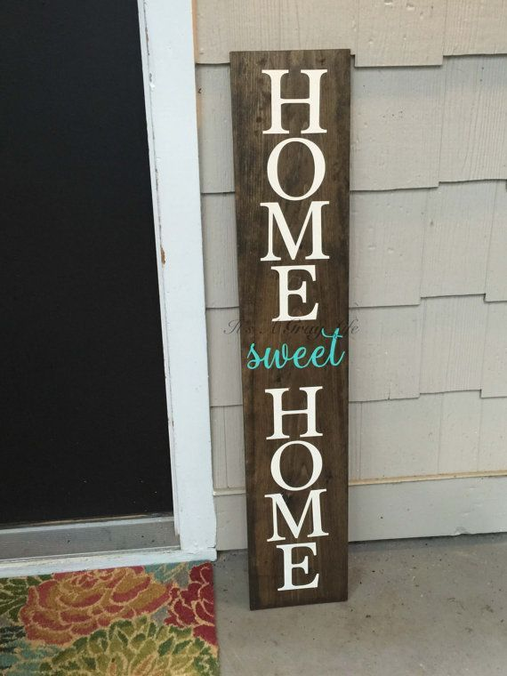 On Sale Large Front Porch Sign Home Sweet Home By Itsagraylife Diy Wood Signs Porch Signs Diy Signs