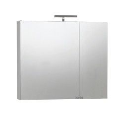 Bagno-Armadietto a specchio Giada L 81 x H 70 x P  15 cm bianco lucido-35618464