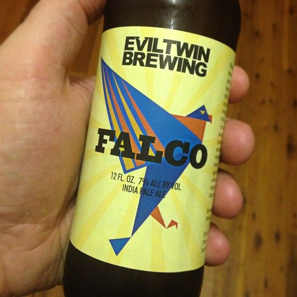 #falco by #eviltwinbrewing - awesome west coast style #ipa. Probably one if the tamer brews I've had of theirs. Nothing wrong with that though. Hey? Hey! #brews #beer #beernerd #beerporn #beerwanker #beerstagram #beertography #instabeer #goodbeer #goodbeerinhand #hey #yum