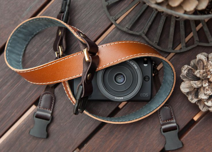 Amber by #Redier - #HandCrafted, #GenuineLeather #CameraStrap for compact/mirrorless cameras.