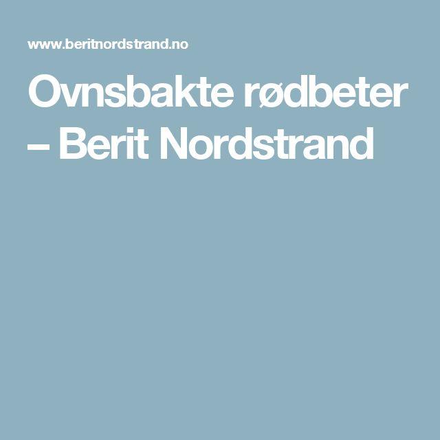 Ovnsbakte rødbeter – Berit Nordstrand