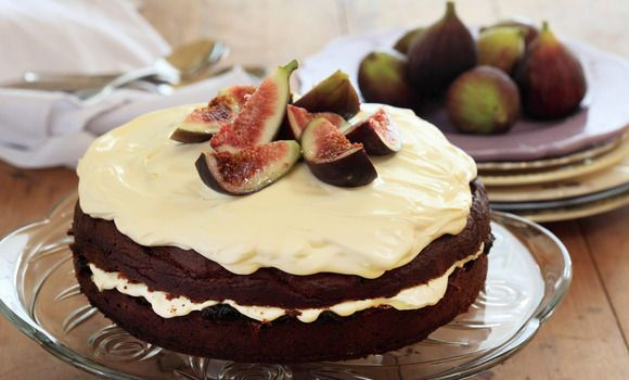 Maggie Beer's Burnt Fig Jam and Almond Cake