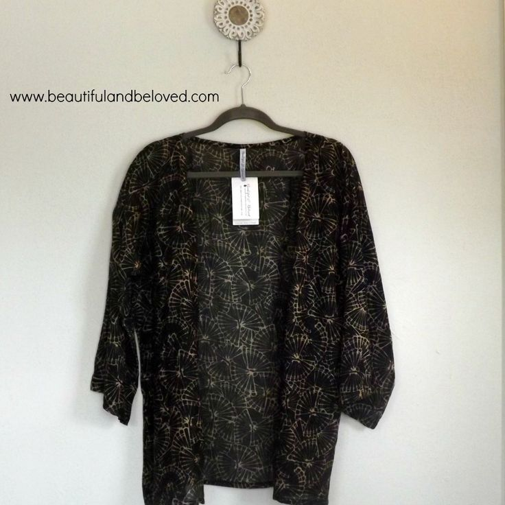 Handcrafted in Nepal by men and women being restored from lives of exploitation, this piece is fair trade and ethically manufactured.  Although some may see it as a stunning kimono, you will know that it is truly life giving empowerment. Beautiful & Beloved clothing