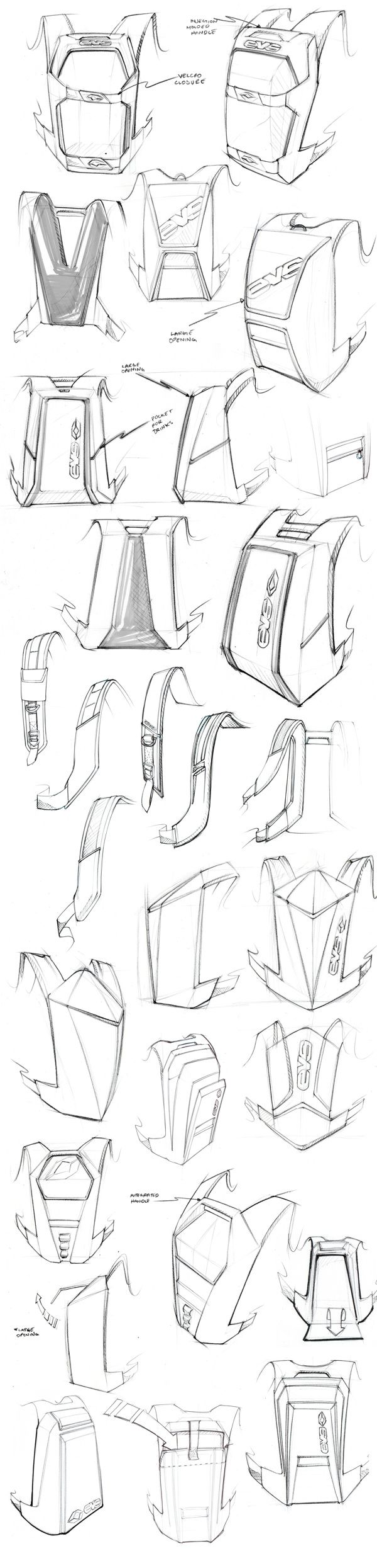 EVS Backpack on Behance #id #product #sketch