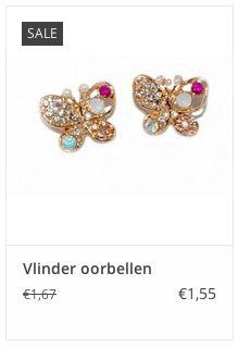 Vlinder oorbellen € 1,55 www.ovstore.nl/nl/feestdagen-acties/cadeautjes