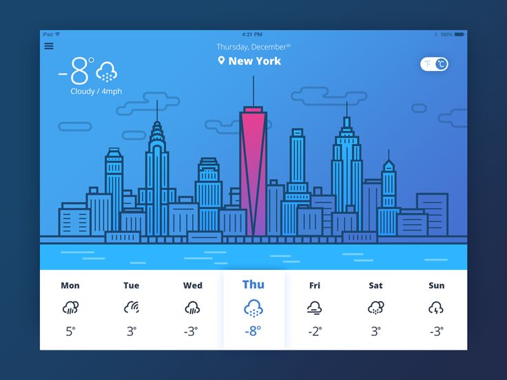 Weather Icons Presentation / Valentyn Khenkin