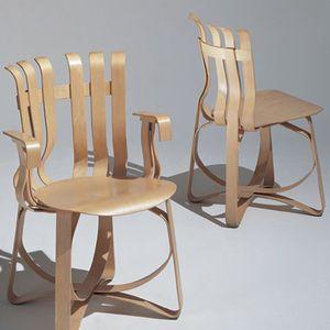 silla moderna / de madera curvada / de arce / para uso profesional