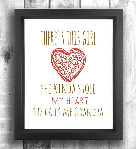 Grandfather Gift GrandpaGift Gift from Grand by LilPeasPrints