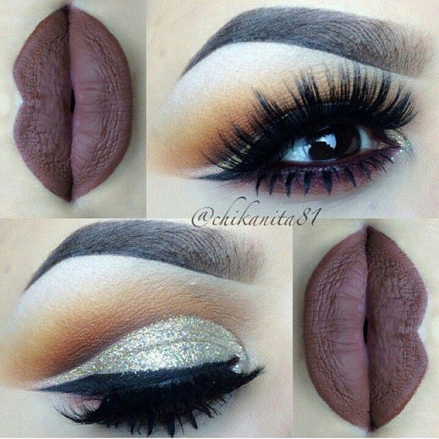 deep purple matte lipstick.