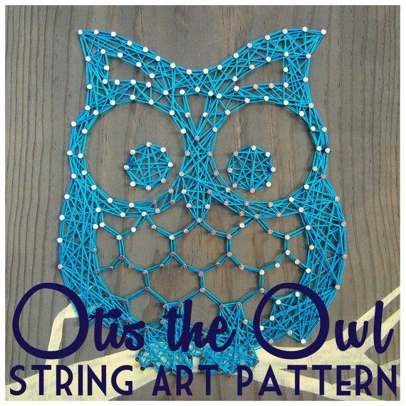 """String Art Pattern - Otis the Owl - 9.5"""" x 7.5"""" kit $22"""