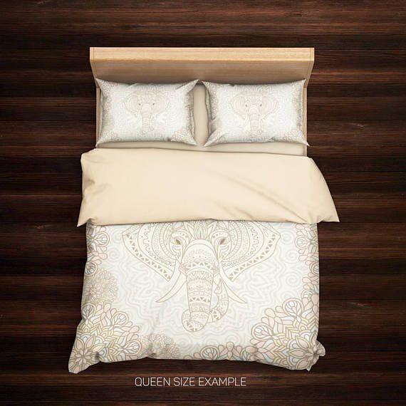 Elephant Bedding,Bohemian Bedding Set,Bohochic Indie,Vintage Bedding,Bohemian Bedding,Mandala Elephant,Indian elephant,Elephant Duvet Cover