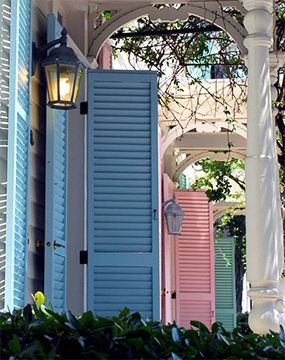Soooo swooning for pastel #shutters  Colored shutters | southern charm | dream home | dream house