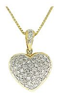 14 best heart necklaces images on pinterest heart pendants this dazzling diamond heart pendant features carat brilliant diamonds set in fine rich yellow gold it is suspended from a beautiful yellow gold chain mozeypictures Gallery