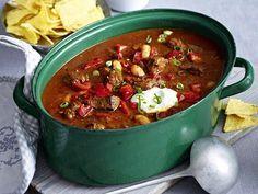 Partysuppen für lange Nächte - chili-rindfleisch-topf Rezept