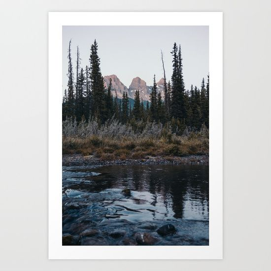 Three Sisters, Canmore Art Print by Tasha Marie. Worldwide shipping available at Society6.com. Just one of millions of high quality products available.