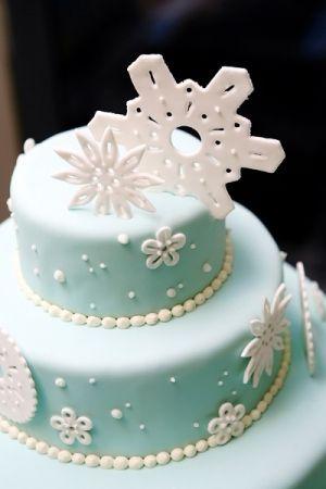 REVEL: Snowflake Decorated Cake