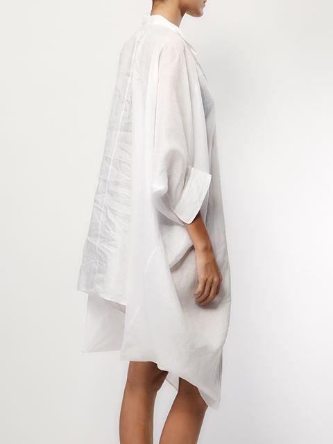 Junya Watanabe Comme Des Garçons band collar asymmetric shirt dress