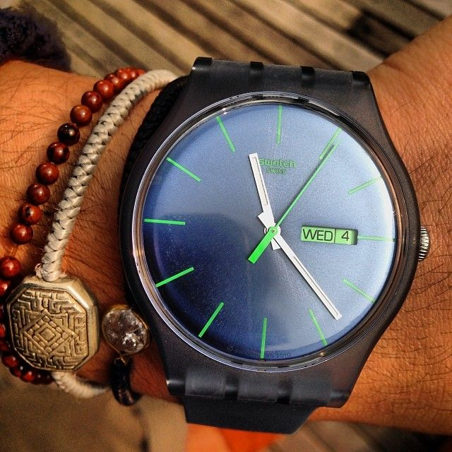 #Swatch: Watches Addiction, Montr Swatch, Stuff, Swatch Bracelets, Swatch Blue, Perfect Jewelry, Babl Babl, Chao Watches, Instagram Photo