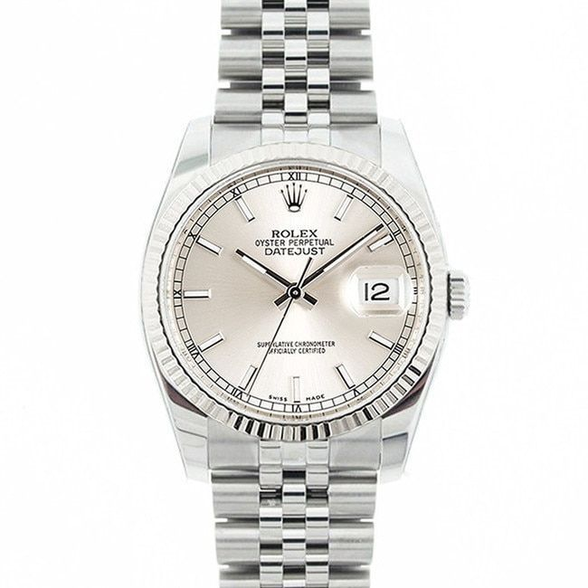 Refurbished Pre-owned Rolex Mid 2000's Model 116234 Men's Datejust Stainless Steel Dial Watch