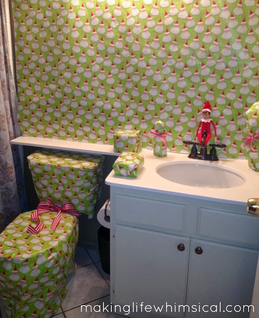 Naughty Elf! This one will have the older kids laughing when they go to get ready for school in the morning.