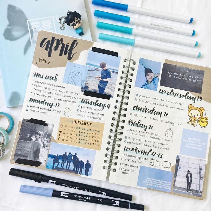 "400 Likes, 9 Comments - erin ✨ (@eristudy) on Instagram: ""hi friends here's an old weekly spread feat. lots of bts bbs ヽ(´▽`)/ ・ ahh friends, I apologize for…"""