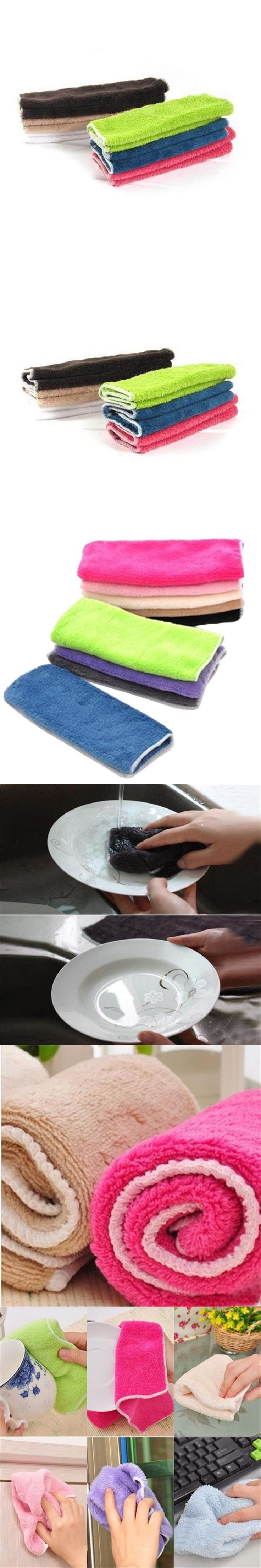 Anti-grease Cloth Bamboo Fiber Washing Towel Magic Kitchen Cleaning Wiping Rags Jul22 Professional Factory price Drop Shipping