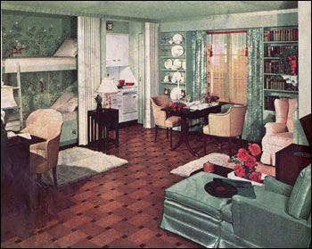 1930s American Living Room | Like today, the living rooms of American mid-century homes served a ...