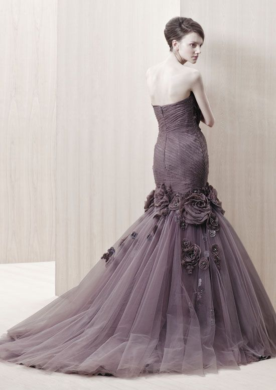 268 best images about purple wedding dresses and cakes on ...