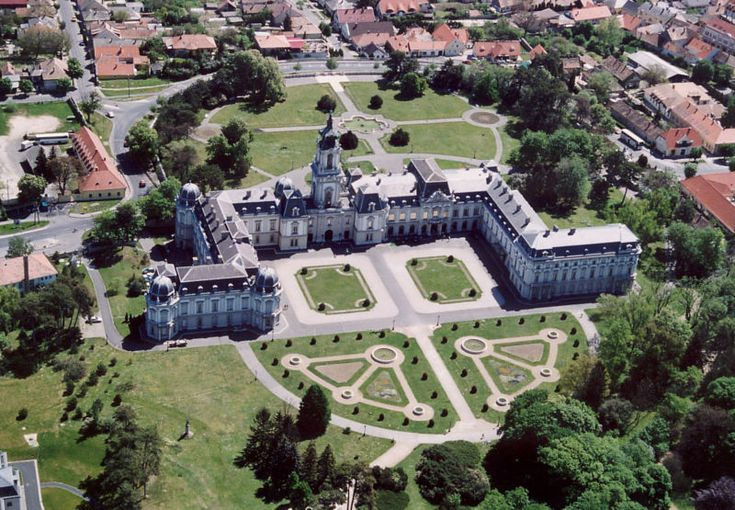 Festetics castle, air photo (Keszthely, Hungary)
