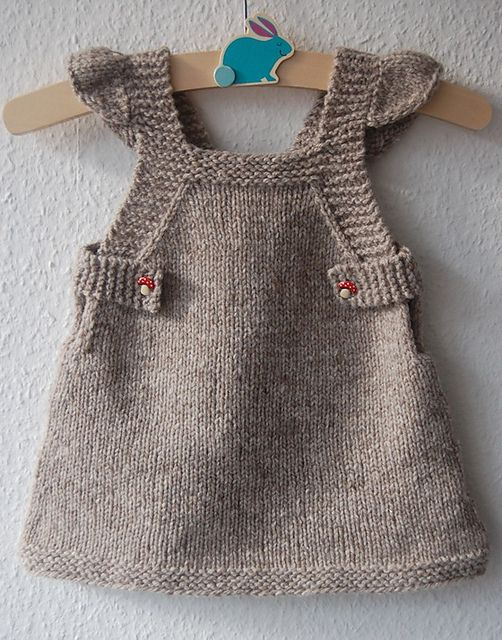 Ravelry: Summer Into Fall pattern by Lisa Chemery #frogginette #knittingpattern #tricot #dress #pinafore #jumper #robe #babyknit