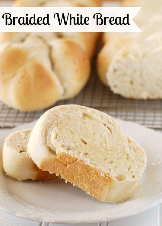 Braided White Bread Recipe from creationsbykara.com. This pretty bread is soft, tender, and delicious! #bread #recipe
