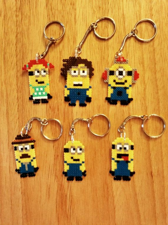 We all love Minions so why not have your very own attached to your keys or bag. Made from Hama beads especially for you.