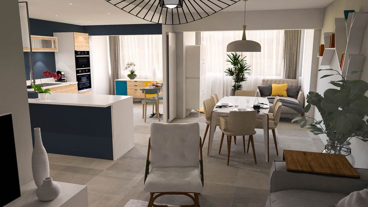Projet du0027agencement 3D pour la mise en vente du0027un appartement à