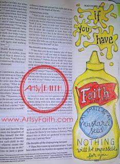 Artsy Faith   Matthew 17:20 Bible Journaling   Bible Art Journaling