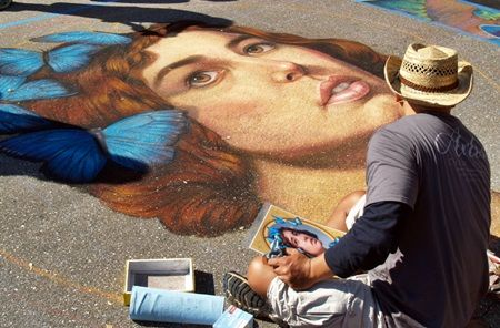 The Sarasota Chalk Festival fills the streets with beautiful colors.