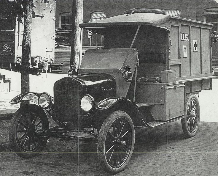 "World War I - Ford Model T Ambulance _ I can not see this and think of ""For Whom the Bell Tolls"""