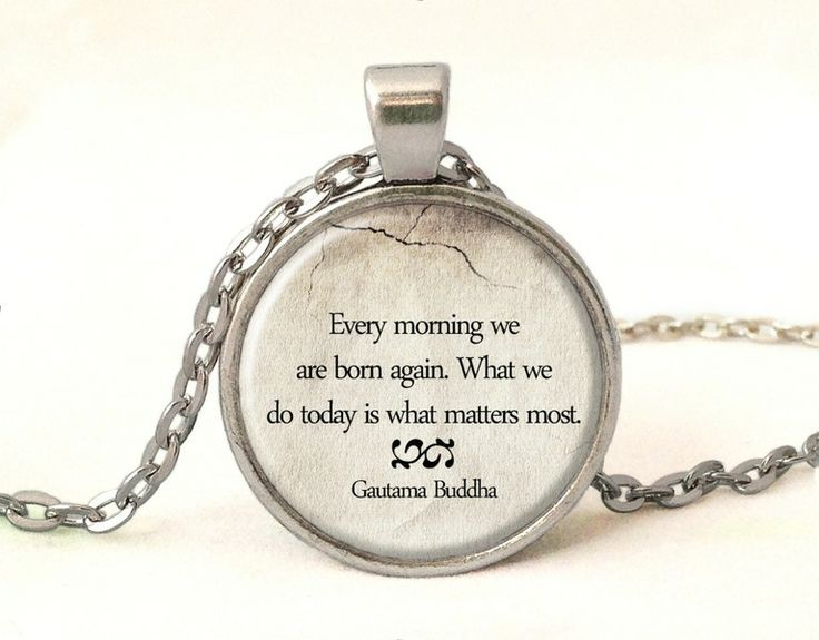 QUOTE-Buddha Necklace, Quote Pendant, 0230POS from EgginEgg by DaWanda.com