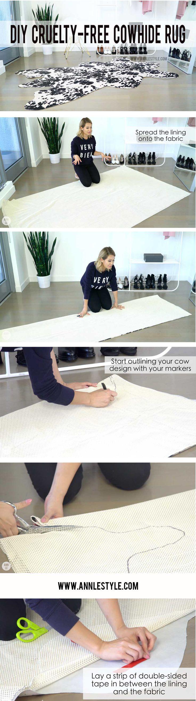 How to make a DIY Cowhide Rug | Vegan Home Decor | LifeAnnStyle.com