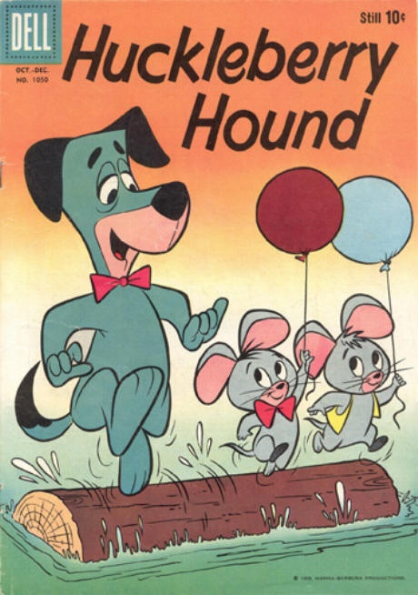 COMIC huckleberry hound four color 1050 #comic #cover #art