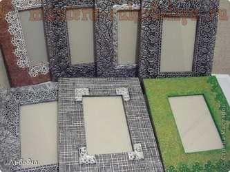 Мастер-класс по декорированию: Рамки из потолочных плит. Декорирование