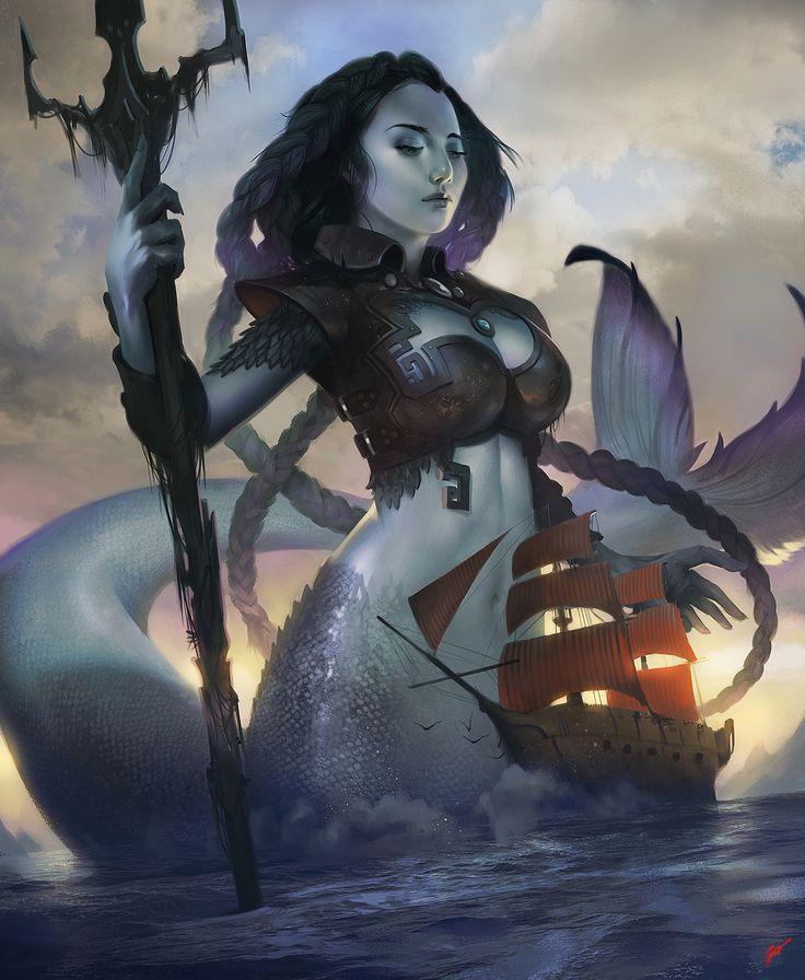Goddess Maeve, Dave Greco on ArtStation at https://www.artstation.com/artwork/LZXJw