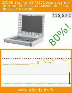 CANON Scanner A3 FB201 pour appareils DR-M160 DR-6030C DR-6050C DR-7550C DR-9050C DR-X10C (Personal Computers). Réduction de 80%! Prix actuel 116,60 €, l'ancien prix était de 578,96 €. https://www.adquisitio.fr/canon/scanner-a3-fb201