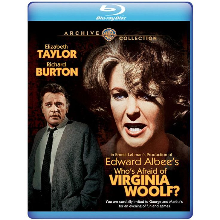 Who's Afraid Of Virginia Woolf? (Blu-ray)(Mod) from Warner Bros.: Elizabeth Taylor and Richard Burton are ideal… #Movies #Films #DVD Video