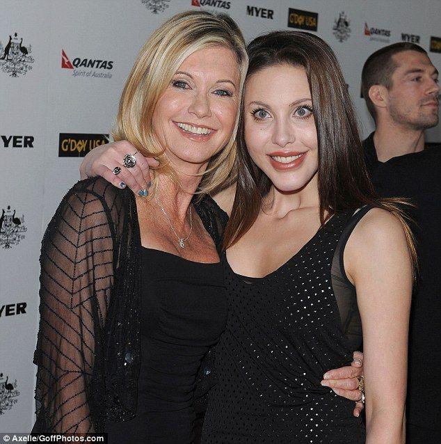 Olivia Newton John and her daughter Chloe Rose Lattanzi