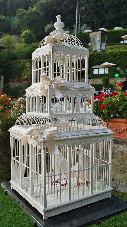 #FLORALIADECOR #GIRITALY #WhiteCage #Doves