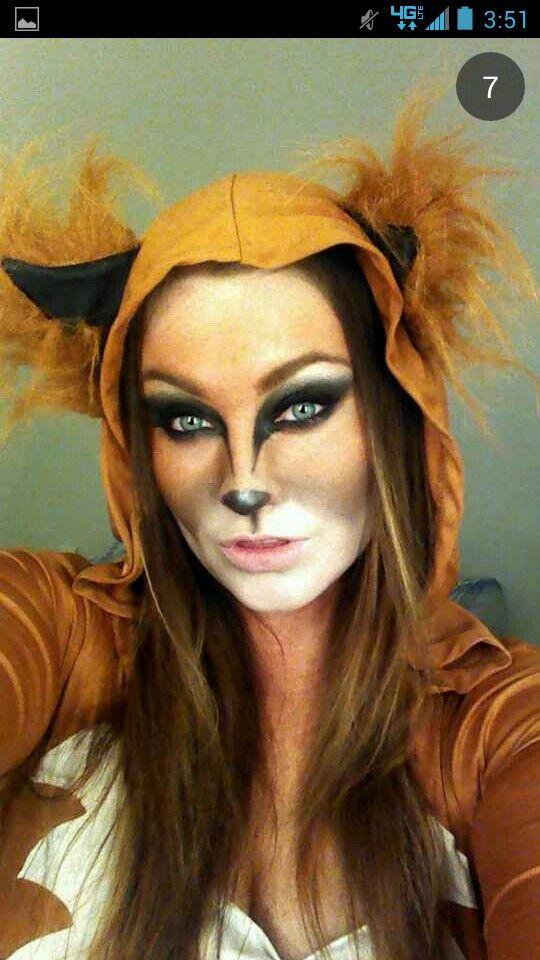 Fox Makeup Costume Idea Number 3 Animals Hallo - Fox-makeup