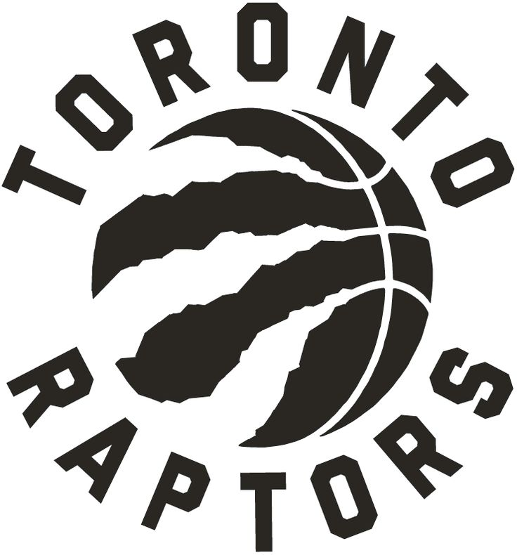 Toronto Raptors Alternate Logo (2016) - A black basketball with claw marks, team name around it in black