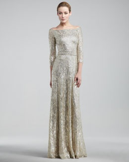 T4GDJ David Meister Metallic Lace Gown: Deb Dresses, Winter Wedding, David Champion, The Bride, Meister Metals, Bride Dresses, Neiman Marcus, Metals Lace, Lace Gowns
