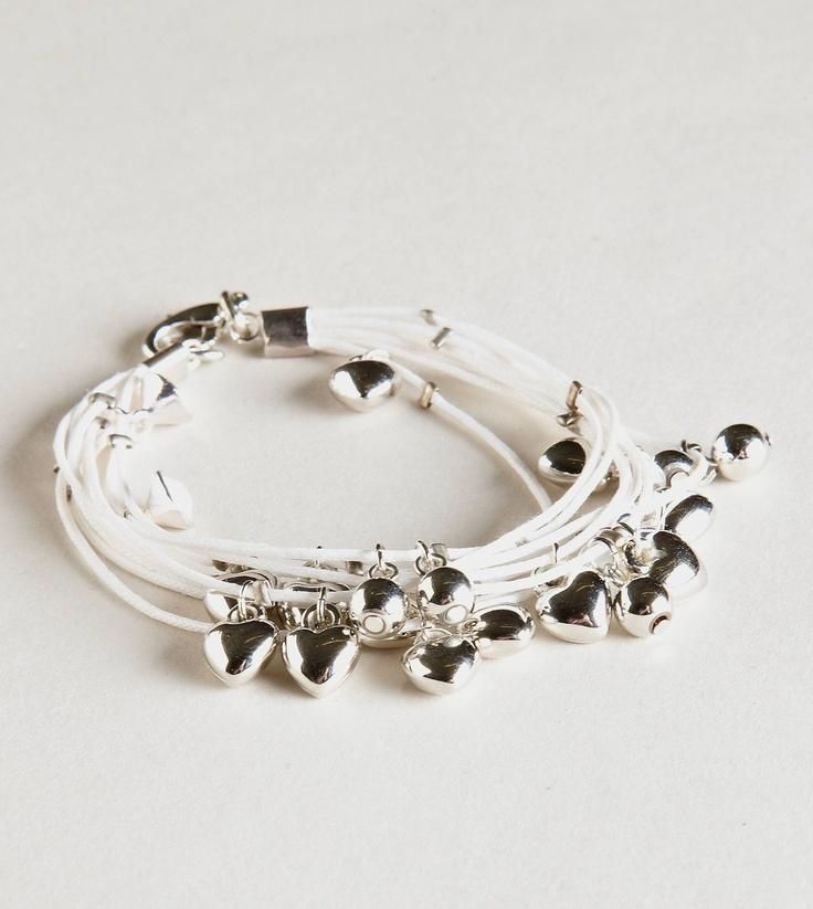 American Eagle Aeo Heart Cord Bracelet