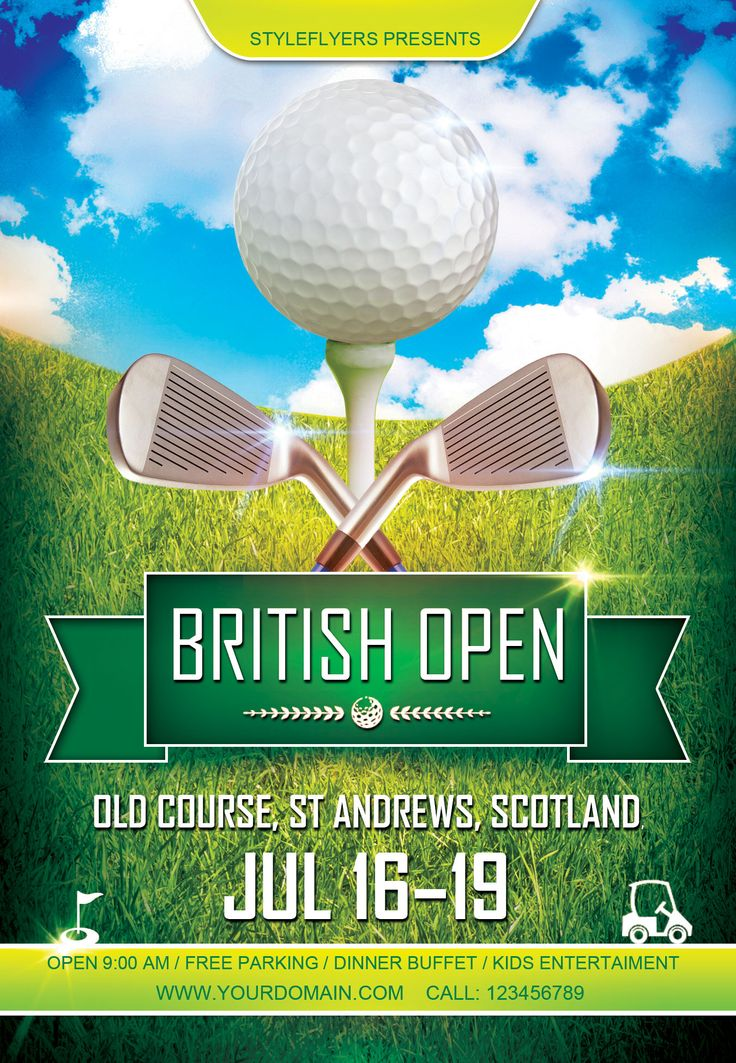 Free Sport Party PSD Flyer Template by styleflyers.com. This Free Golf PSD Flyer Template - is one of our best sport flyers that is multipurpose and can be used in different ways to promote your game, event or places. Get all the sport Photoshop flyers you like! #Sport, #golf, #Event, #flyer, #pub, #Party, #game, #championship
